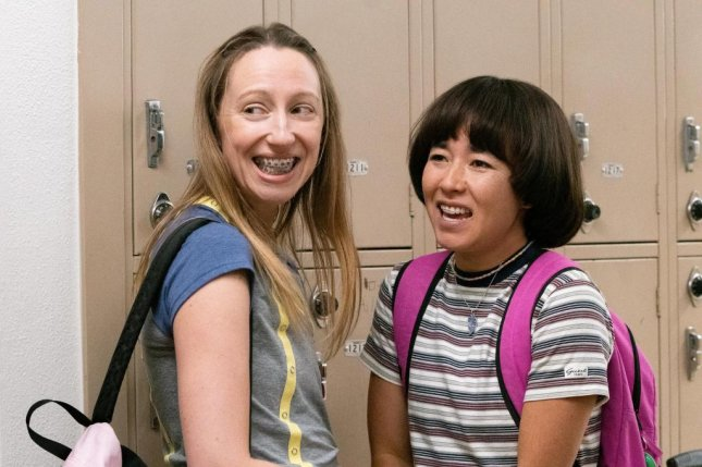 Anna Konkle (L) and Maya Erskine play teenagers in the year 2000 in PEN15. Photo courtesy of Hulu