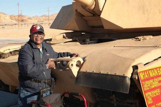 U.S. Marine Corps grants veteran's final wish to hug a tank