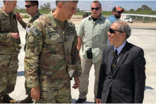 A statement from Gen. Stephen Townsend (L) said that although U.S. troops will leave Somalia, they will deploy elsewhere in East Africa. Photo courtesy of U.S. Embassy in Somalia