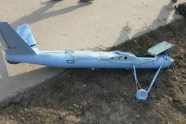 A North Korea-manufactured drone. South Korea said drones from North Korea flew across the DMZ during high-level talks in August. File Photo by Yonhap