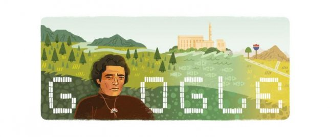 Google is paying homage to social justice champion Richard Oakes with a new Doodle. Image courtesy of Google.