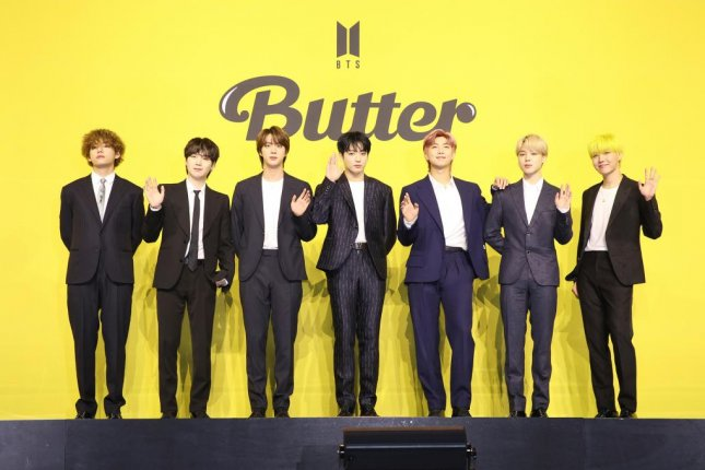 Butter, the new single from K-pop group BTS debuted at No. 1 on the Billboard Hot 100 chart this week. Photo courtesy of Big Hit Music