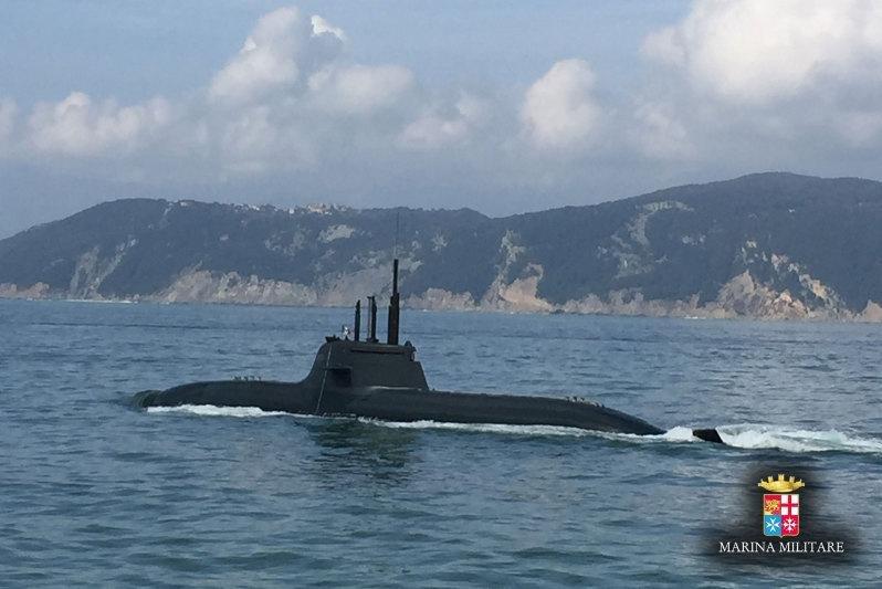 A new submarine for the Italian Navy, the Romeo Romei, has begun sea trials. Italian Navy photo