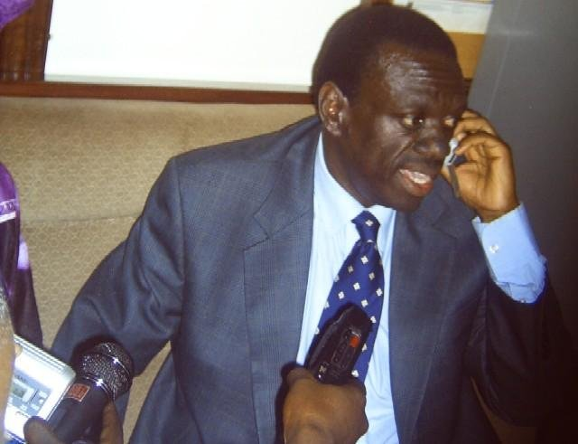 Kizza Besigye, arrested in uganda on a treason charge, was granted bail Tuesday. Photo courtesy of Forum for Democratic Change/Wikinews