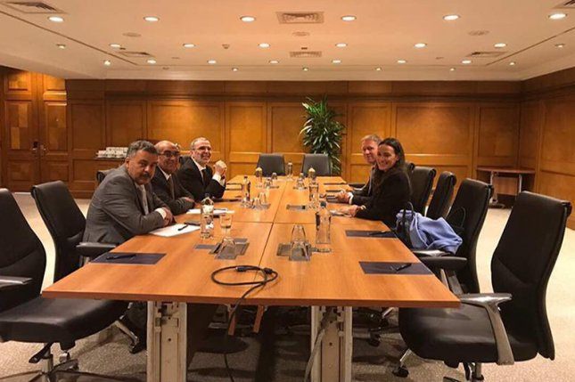 Officials from a state oil company in Libya brief representatives from Norwegian energy company Statoil about the potential to bring production back to normal levels. Photo courtesy of the Libyan National Oil Corp.