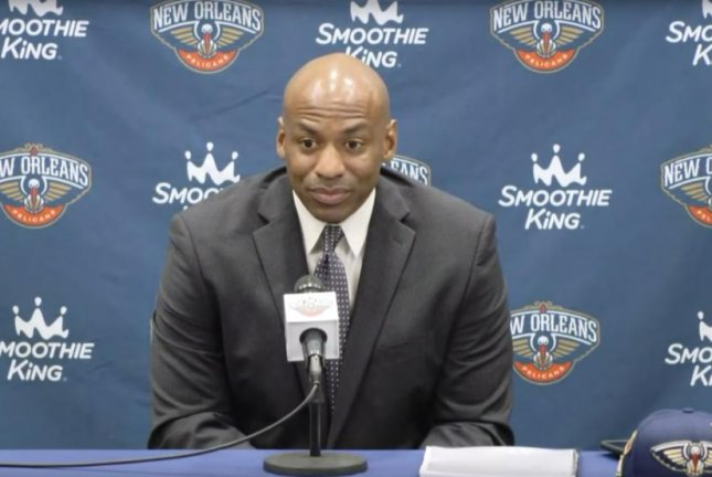 Former New Orleans Pelicans general manager Dell Demps assumed the role in 2010, before being fired Friday morning. Photo courtesy of the New Orleans Pelicans/YouTube