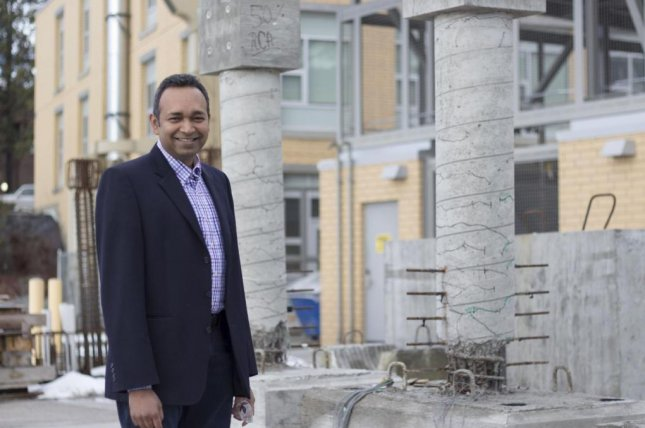 Shahria Alam, co-director of the Green Construction Research and Training Center at the University of British Columbia, is the lead author of a new paper showing recycled concrete is just as strong and durable as traditional concrete. Photo by UBC Okanagan