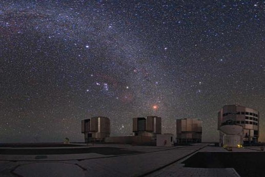 The dark galaxy candidates were identified with the help of the Very Large Telescope, located in Chile. Photo by ETH Zurich