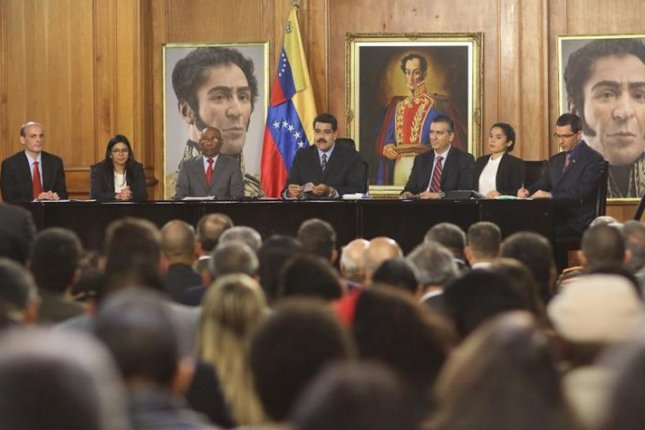 The Venezuelan opposition will attempt to oust President Nicolas Maduro, seen here during a national address, from power through a recall referendum, which can be held once a president has served half a term and at least 20 percent of registered voters have signed a petition. Photo courtesy of Nicolas Maduro