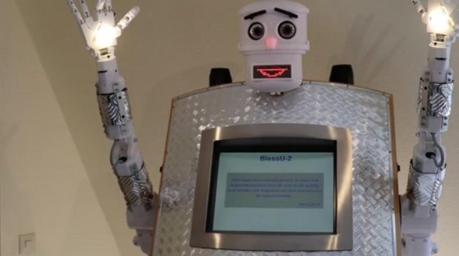 Would you get blessed by a robot?