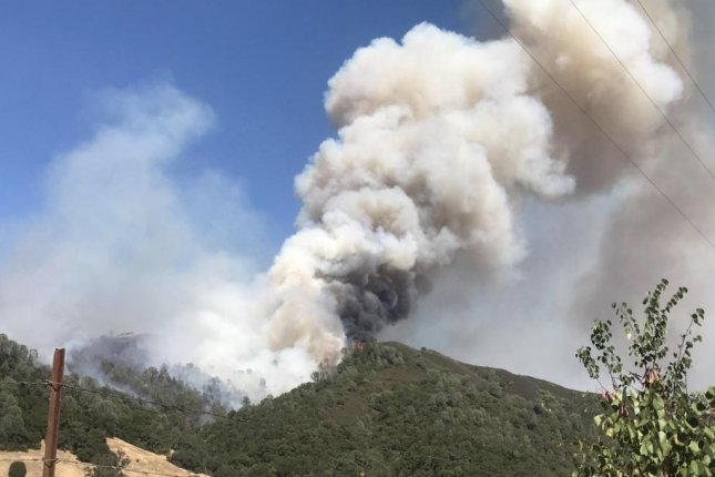 The Mendocino Complex Fire grew by more than 70 percent over the weekend. Photo courtesy of the Mendocino National Forest