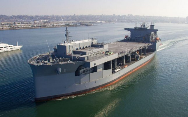 The expeditionary sea base ship to be designated USNS Miguel Keith completed its acceptance trials on October 15, 2019. Photo courtesy of General Dynamics/NASSCO