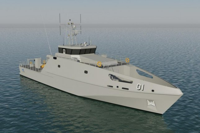 The design of new Australian patrol boats. Image courtesy Austal Ships