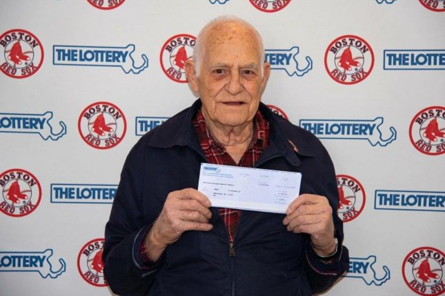 A Massachusetts man won $100,000 from a lottery drawing by playing the jersey numbers of his favorite Boston Red Sox players. Photo courtesy of the Massachusetts State Lottery