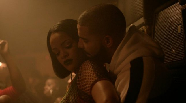 Rihanna and Drake in the new music video for their single Work. Photo courtesy of Rihanna/Twitter.