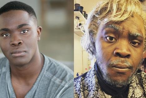 Photos of Kyle Jean-Baptiste, courtesy of the official Les Miserables Twitter account.