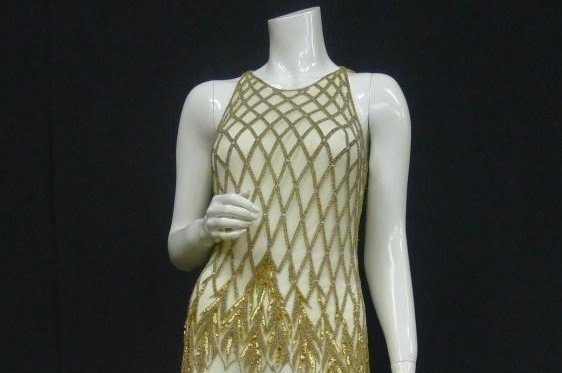 Image of Whitney Houston's gown, courtesy of Stevens Auction Company