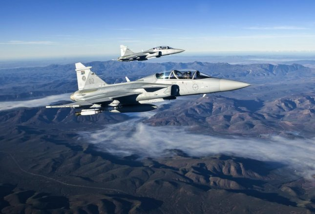 Saab has signed a deal to provide support for the Gripen fighters of the South African air force, the company announced on Friday. Photo courtesy of Saab