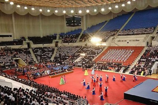 North Korea told the International Weightlifting Federation its Chung Ju-yung Gymnasium could accommodate more than 10,000 spectators. File Photo by Yonhap