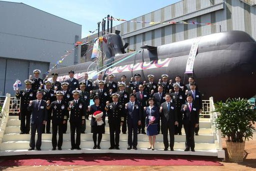 Launch ceremony for South Korea's seventh Type 214 submarine. Photo courtesy Hyundai Heavy Industries
