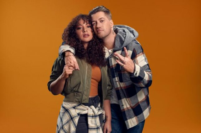 Jasmine Cephas Jones (L) and Rafael Casal star in the dramedy series, Blindspotting. Photo courtesy of Starz