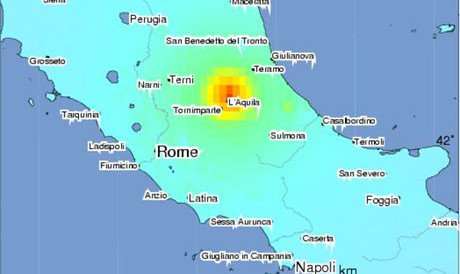 Map Of North East Italy.6 3 Quake Hits Italy Northeast Of Rome Upi Com