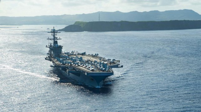 USS Theodore Roosevelt operates in the Philippine Sea on Thursday. Photo by Mass Communication Specialist Seaman Kaylianna Genier/U.S. Navy/website