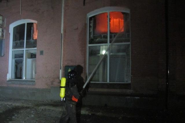 Firefighters put out the fire at the Tokyo Star hotel in Odessa, Ukraine Saturday. Photo courtesy of Odessa Police.