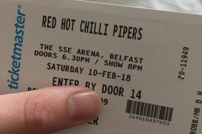 Confused couple travel to Belfast to see Red Hot Chili Pipers