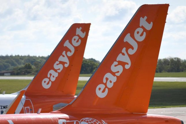 EasyJet saidhackers obtained email addresses and travel details, as well as credit card information for about 2,200 flyers. File Photo by Neil Hall/EPA-EFE