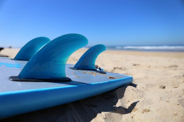Danny Griffiths' surfboard, lost in 2017 off the coast of Tasmania, Australia, was found 16 months later floating in northern Queensland, Australia -- nearly 1,700 miles away. Photo bykenailuj/Pixabay.com