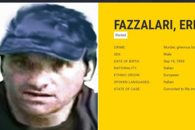 'Ndrangheta kingpin Ernesto Fazzalari, 46, was arrested Saturday in a remote cottage in the rugged Calabrian mountains in Italy. Image courtesy European Network of Fugitive Active Search Teams