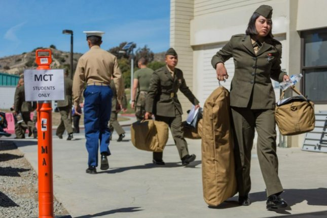 An all-female platoon of female Marines arrived at Marine Corps Recruit San Diego in February, and concluded boot camp this week. Photo courtesy of U.S. Marine Corps