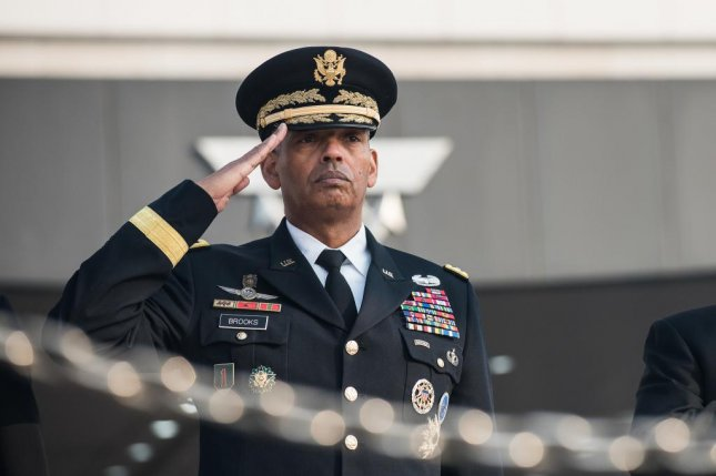 Commander of the United States Forces Korea (USFK) Army Gen. Vincent K. Brooks spoke at the opening ceremony Friday for the new headquarters of U.S. Forces Korea at Camp Humphreys in Pyeongtaek, South Korea. File Photo courtesy of Department of Defense/Army Sg. Amber I. Smith