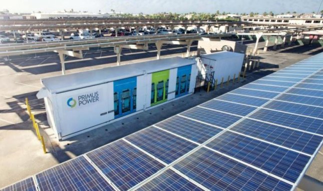A photovoltaic installation at Marine Air Station Miramar, Calif., was an element in the Energy Resilience Readiness Exercise, in which commercial power to the base was shut off for a test. Photo courtesy of U.S. Department of Energy