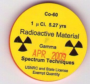 An image of a plastic Isotope container containing Cobalt-60, the same radioactive material recovered from a stolen truck in Mexico on December 4, 2013. (CC/DMKTirpitz)