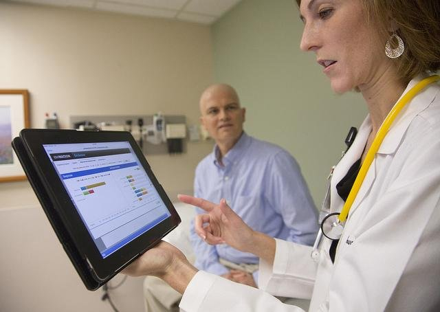 IBM and CVS expect new Watson Health Cloud services to help doctors and other healthcare service providers track and manage patient's treatment plans. Photo by IBM