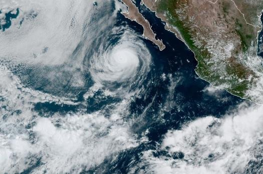 Elida was located about 275 miles southwest of the southern tip of Baja California, Mexico, as of Tuesday morning. Photo courtesy of NOAA