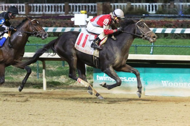 McCraken, seen winning the 2016 Kentucky Jockey Club, will try to earn his way to the Kentucky Derby while headlining Saturday's Grade I Blue Grass Stakes at Keeneland. Photo courtesy of Churchill Downs
