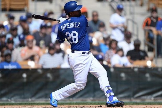 The Los Angeles Dodgers placed outfielder Franklin Gutierrez on the 10-day disabled list with an episode of ankylosis spondylitis, the team announced Sunday. Photo courtesy of Los Angeles Dodgers/Twitter
