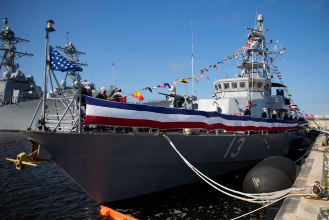 The coastal patrol ship USS Shamal, pictured, joined the USS Tornado and the USS Zephyr on Thursday in decommissioning ceremonies at Naval Station Mayport, Fla. Photo courtesy of U. S. Navy