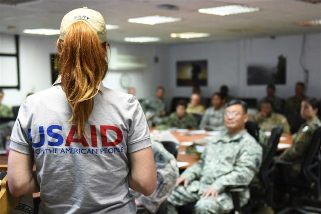 The Justice Department settled Tuesday with a Norwegian non-profit over accusations it violated U.S. law by supporting groups on the State Department's terror list before receiving USAID funds. File Photo by Staff Sgt. Maria Bowman/U.S. Air Force