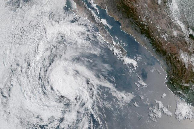 Tropical Storm Alvin turned into the first hurricane of the 2019 Pacific season on Thursday. Image courtesy NOAA/GOES-W