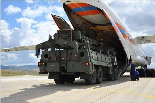 Elements of the Russian-made S-400 air defense system began arriving in Turkey on Friday and continued through the weekend. Photo courtesy of Turkish Defense Ministry