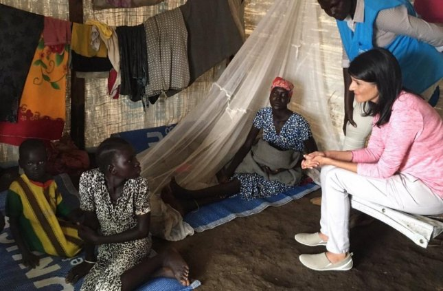 U.S. Ambassador to the United Nations Nikki Haley warned South Sudan's president the United States may no longer provide aid if violence continues in the country after visiting with refugees.  Photo by Nikki Haley/Twitter