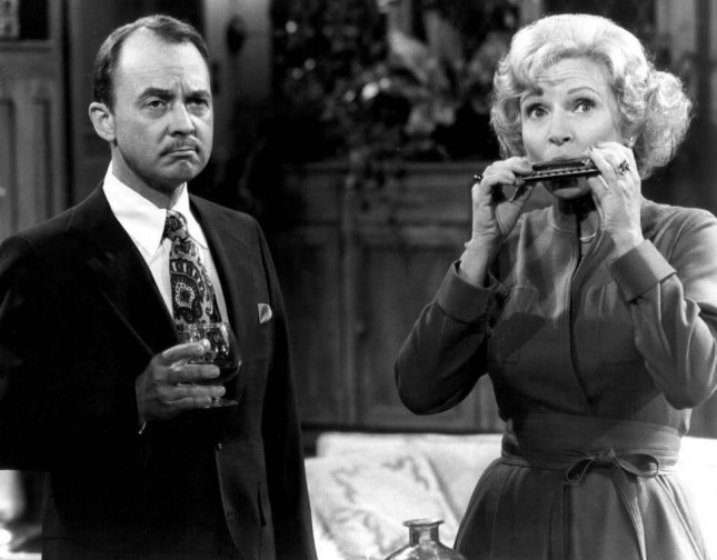 Photo from CBS of John Hillerman and Betty White from The Betty White Show in 1977. Hillerman died Thursday at the age of 84.