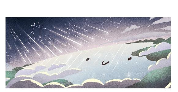 Google is paying homage to the Geminid Meteor Shower with a new Doodle. Image courtesy of Google