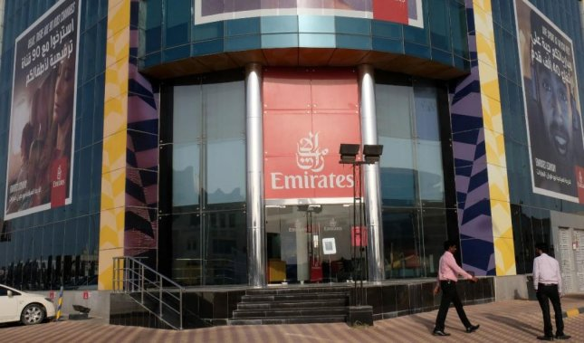 Business stalled at the Emirates Airlines office in Doha, Qatar on Monday, after several Arab nations, including Saudi Arabia, Bahrain and the United Arab Emirates cut diplomatic ties with Qatar. Kuwait offered to mediate the crisis. Photo by STR/EPA