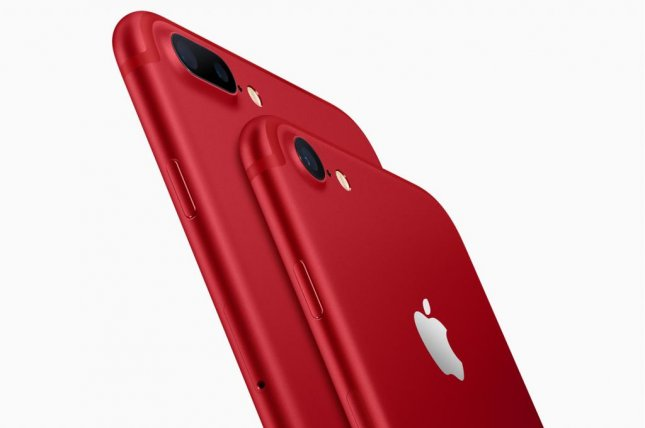 Apple unveiled Tuesday a special red version of the iPhone 7 and 7 Plus to commemorate the 10-year partnership with Red, an organization that helps fights AIDS. Photo courtesy Apple