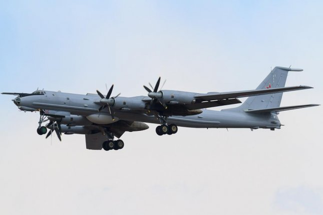 A Russian Tu-142 aircraft, like the one in this 2012 photo, was intercepted near Alaska Wednesday, according to NORAD. Photo by Fedor Leukhin via Wikimedia Commons